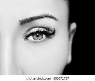 Schöne Augen Make-up Detail, perfekte Schönheitsaugen