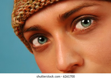 Beautiful eyes of young female model