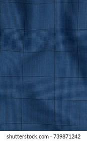 Beautiful fabric, blue fabric texture close up