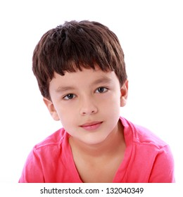 beautiful face of a child looking at the camera