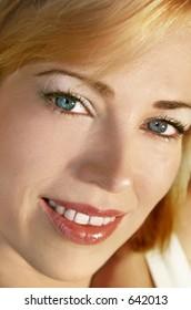 Beautiful face closeup