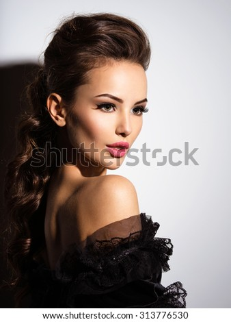 6047398b2 Beautiful Face Young Sexy Girl Black Stock Photo (Edit Now ...