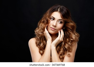 Beautiful Face of Young Woman with Clean Fresh Skin Beauty Portrait. Perfect Fresh Skin. Pure Beauty Model. Youth and Skin Care Concept