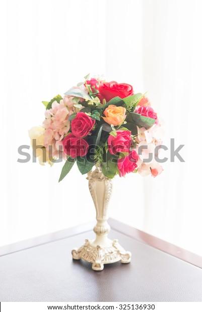 Beautiful Fake Plastic Flower Vase Decoration Stock Photo Edit Now 325136930