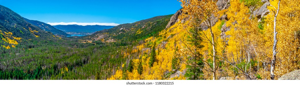 Beautiful Fall Hike in Aspen Trees in Grand Lake, Colorado