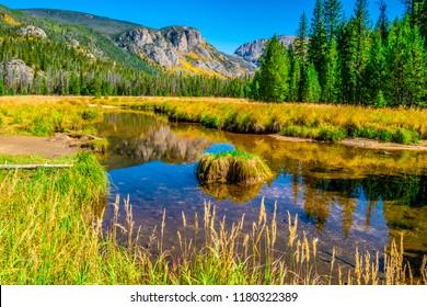 Beautiful Fall Hike in Aspen Trees in Grand Lake, Colorado