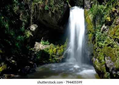 Beautiful fall of water in Ocopilla