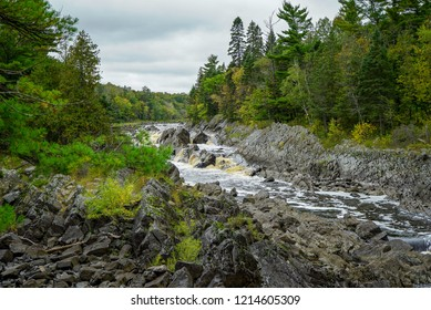 Beautiful falls of the St. Louis River at Jay Cooke State Park in Minnesota