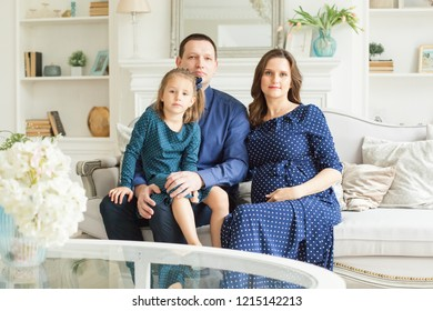 Beautiful Family in ble dress