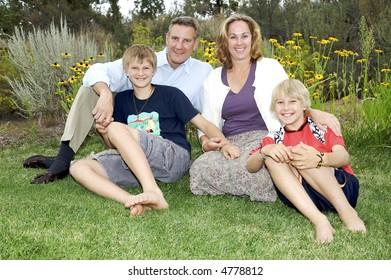 Beautiful Family of Four Portrait