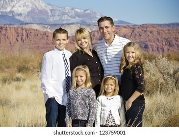 Beautiful Family Portrait Outdoors