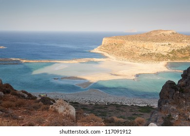 Beautiful and famous Balos Beach. Crete. Greece. Early morning.