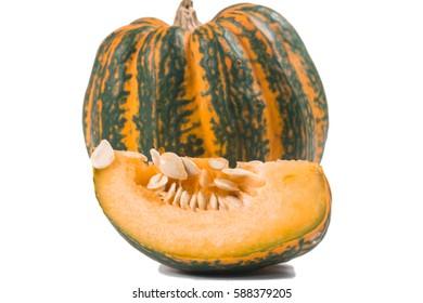 beautiful Fancy pumpkin on a white background
