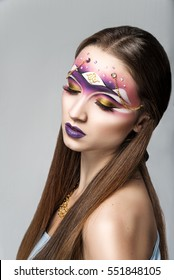Beautiful fantasy eye face-art