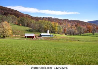 Beautiful farm scene in West Virginia