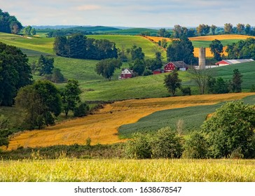 Beautiful farmland in the Ohio countryside - Shutterstock ID 1638678547