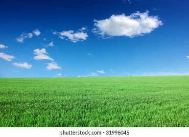 Beautiful farmlands with lovely clouds.