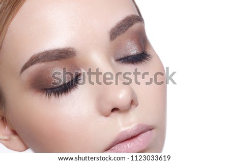 df5fd4c5d1f Beautiful Fashion Luxury Makeup, long eyelashes, perfect skin facial make-up.  Beauty