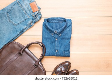 Beautiful fashion men's casual outfits clothing - vintage effect filter