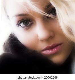 beautiful fashion model portrait