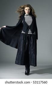Beautiful fashion model posing in the studio