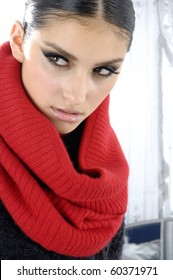 Beautiful fashion model posing-close up