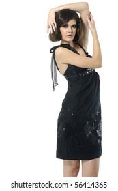 beautiful fashion woman posing, studio shot