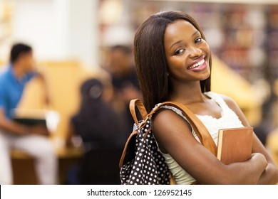 beautiful female african american university student portrait