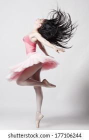 Beautiful female ballet dancer