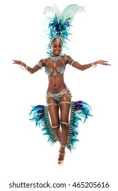 Beautiful female dancer inviting you to dance with her.