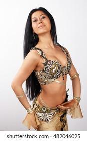 Beautiful female dancer. portrait