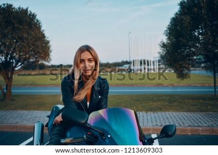310b89492 Beautiful Female Extreme Lover Stylish Leather Stock Photo (Edit Now ...