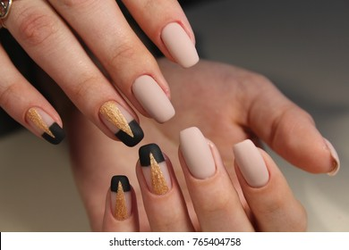 beautiful female hands with sexy manicure.