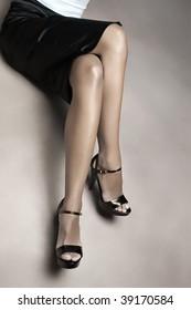 Beautiful female legs, studio shot