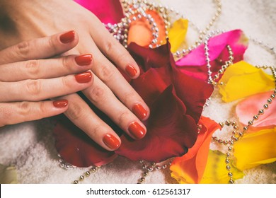 Beautiful female manicure