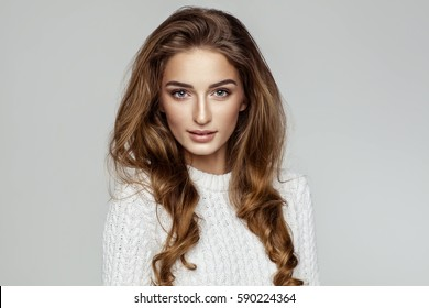 Beautiful female model face