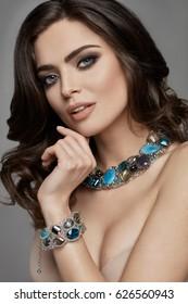 Beautiful female model with jewelery