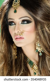 Beautiful female model with makeup