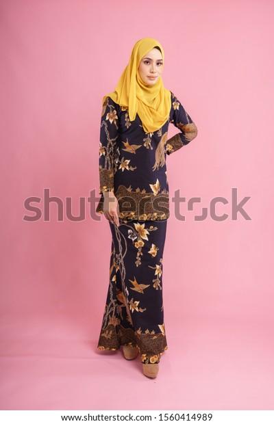 Beautiful Female Model Wearing Black Baju Stock Photo Edit