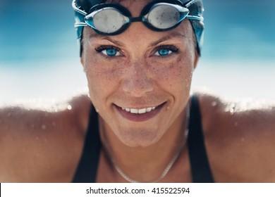 Beautiful Female Swimmer