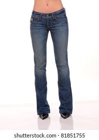 beautiful female woman wearing jean
