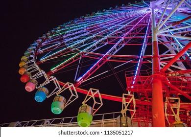 Beautiful of Ferris wheel at night