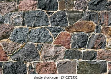 Beautiful fieldstone wall background.