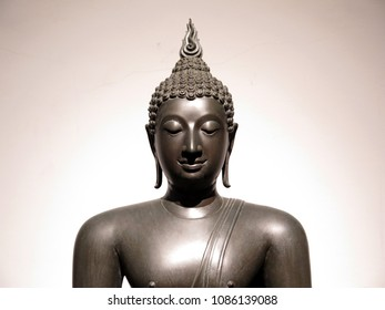A beautiful figure of Buddha image in Sukhothai era, 15th century, Thailand