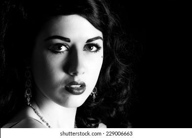 beautiful film noir woman