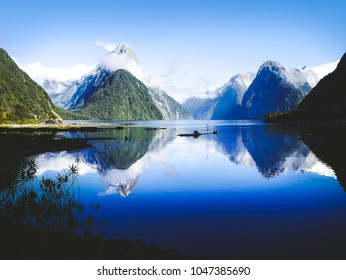 Beautiful Fiords of Milford Sound in New Zealand