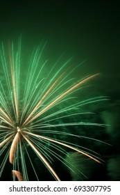 beautiful firework in japan