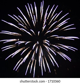 Beautiful Fireworks display.  Could make an excellent background for a website or other graphic design.