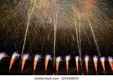 Beautiful Fireworks in Japan