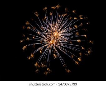 Beautiful Fireworks in the sky, celebration and new year concept